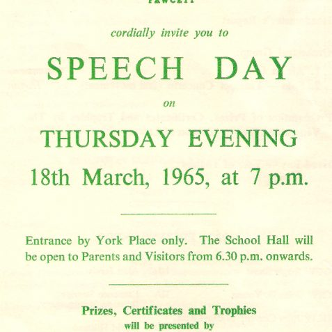 Speech Day 1965