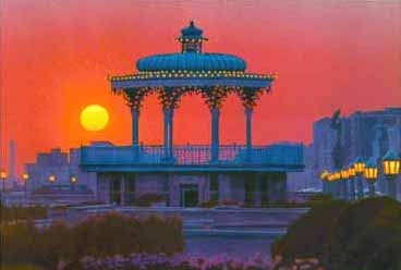 Painting of the Bird Cage Bandstand