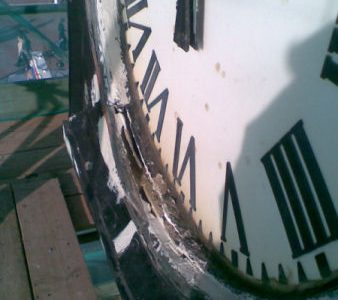 Essential repairs to the pier clock