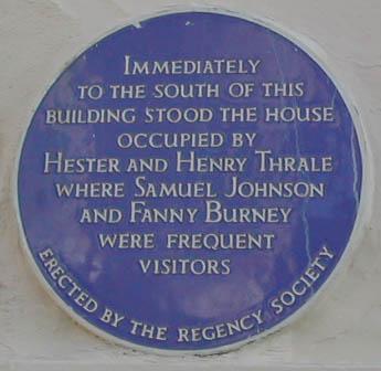 Thrale house plaque | Trevor Chepstow
