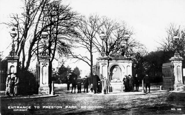 Entrance to Preston Park, ca 1900 | Image reproduced with permission from Brighton History Centre