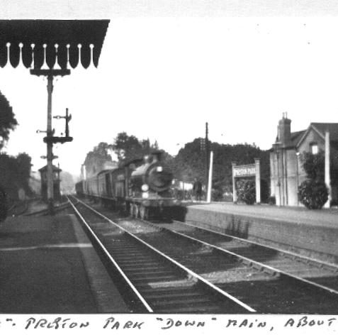 Preston Park station circa 1921 - Comments: | Sent to the website via the contribution form by Brian Matthews on 21-12-03. Photo from private collection of Brian Matthews