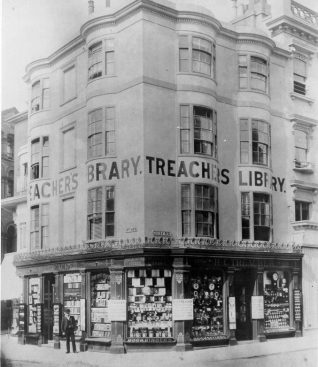 H.C. Treacher's bookshop, proprietary library and stationers on the corner of East Street and North Street c1920 | Image reproduced with kind permission from Brighton and Hove in Pictures by Brighton and Hove City Council
