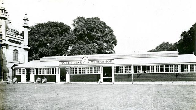 Queen Mary's Workshops in the Pavilion grounds 1920 | HPGC Archive