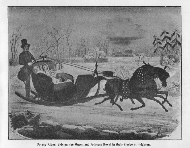 Sledging at Brighton, 1845 | From the book