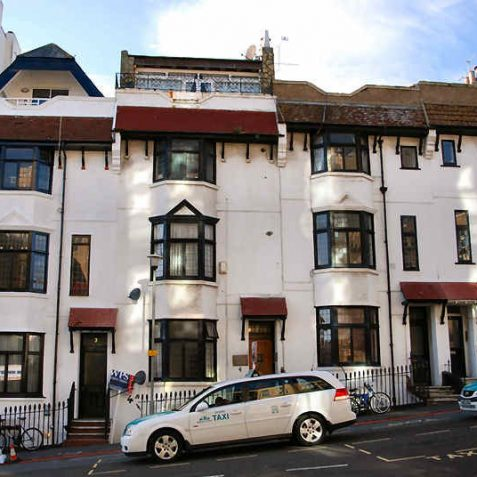 Houses in Queen Square formerly used for St Mary's inmates   Photo by Tony Mould