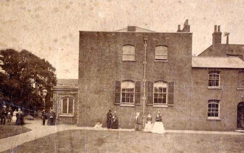 Photo of Brighton Meeting House, 1875