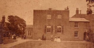 Quaker Meeting House, 1875. Taken previous to alterations in 1875.