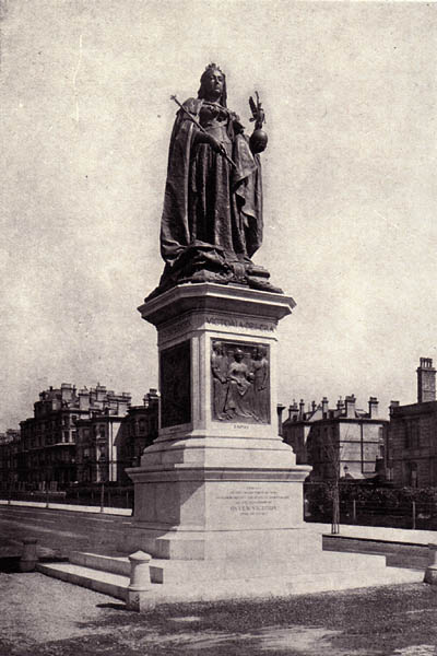Photo of Queen Victoria Memorial, Grand Avenue, by Thomas Brock | Scanned from an original copy of '67 Views of Brighton, Hove and Neighbourhood', circa 1910, by kind permission of David Burgess