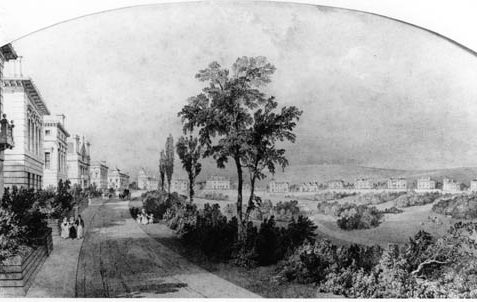 This is a sketch by Charles Barry of what he wished Queen's Park to look like in the 1830s | Reproduced by permission from private collection - source wishes to remain anonymous