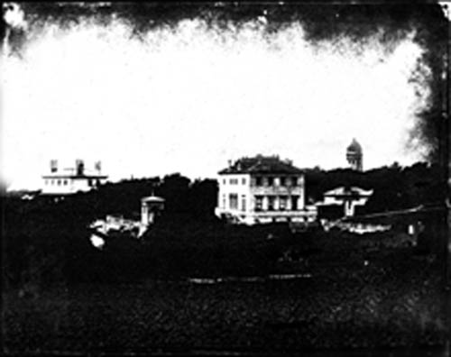 This is one of the earliest images of Queen's Park. It a paper negative taken by Edward Fox and shows Attree's villa in about 1860. | (Photo courtesy of Phillippe Garner.)
