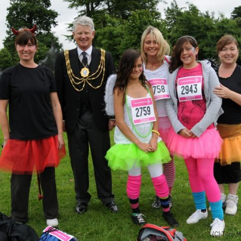 Multi-coloured runners   Photo by Tony Mould