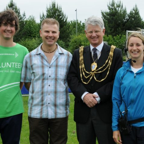 The Mayor with Event organiser Carly Gibbs and two of her team | Photo by Tony Mould