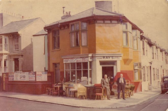 Secondhand furniture shop in Upper Lewes Road | From the private collection of Graham Robinson