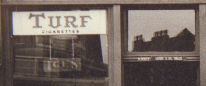 Detail of shop reflection - does this help? | From the private collection of David Ransom