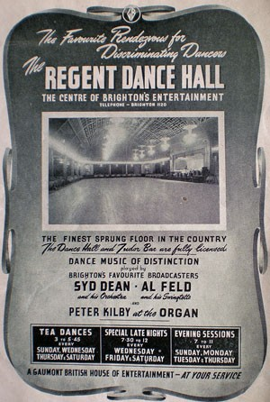 Advertisement for the Regent Ballroom | From the private collection of Trevor Chepstow