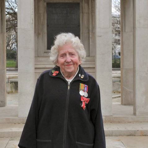 June McCulloch- WAAF -Driver- MBE   Photo by Tony Mould