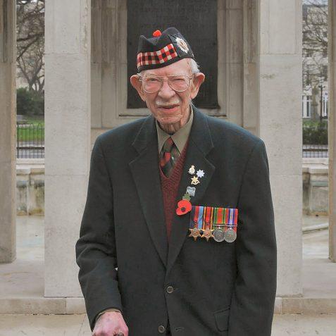 Eric Potton-1st Battalion Royal Scots | Photo by Tony Mould