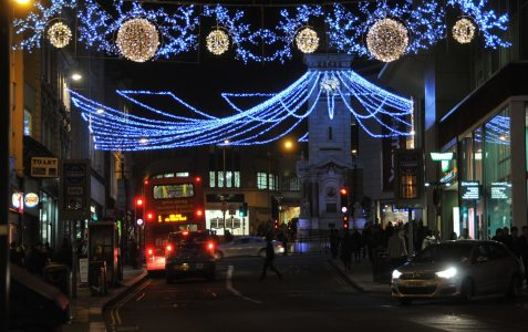 Christmas lights in North Street
