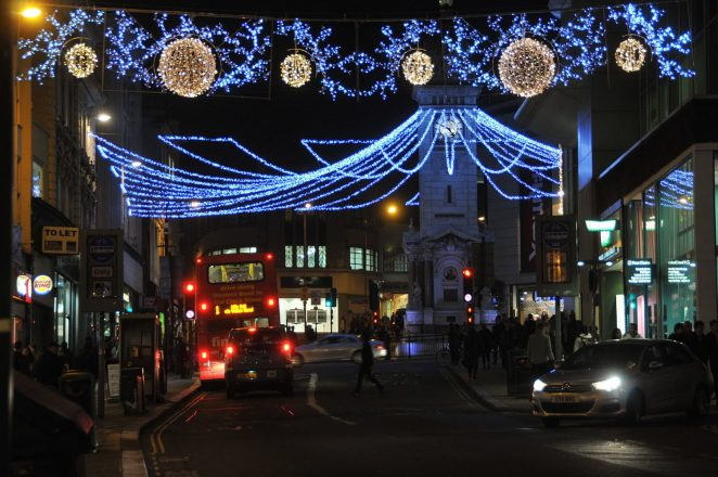 Christmas lights in North Street | Photo by Tony Mould:click on photo for large version