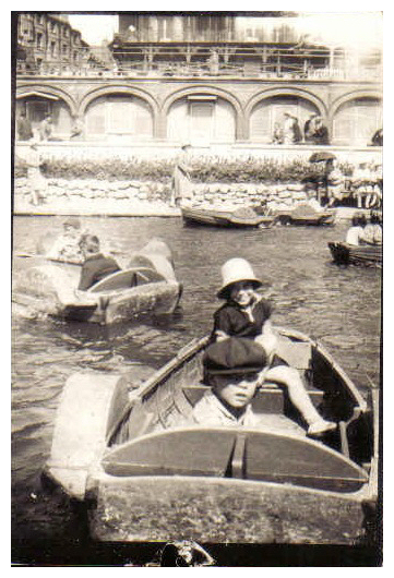 Rita and friend on the boating lake | From the private collection of John Cording
