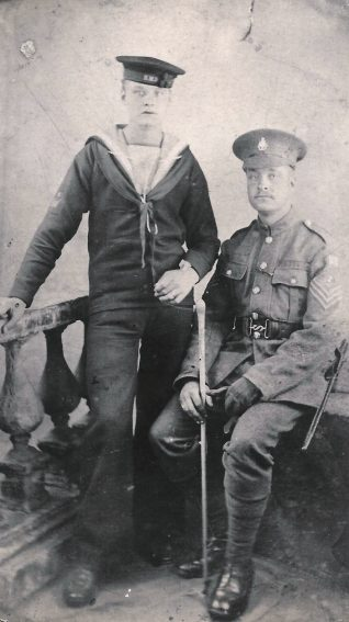 Robert Dine R.N. & Luke Dine Royal Sussex Regt. | From the private collection of C West