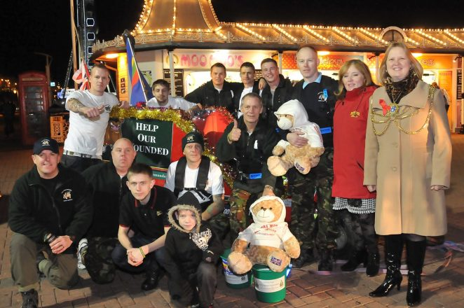 The sleigh team together with Anne Martin, General Manager of the Palace Pier and Councillor Anne Meadows | Photo by Tony Mould: click on the photo to open a large version in a new window