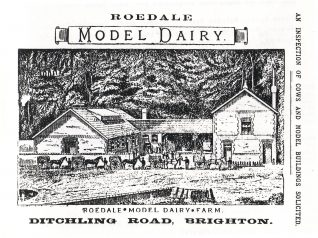 Advert from an 1891 trade directory showing the buildings with the steep bank copse behind | Reproduced with permission from