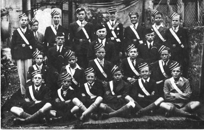Brighton Boys Brigade c1936 - Ronald Leslie Barber back row, 3rd from right. His brother Bob is back row, 2nd from left. | From the private collection of Geoffrey Barber