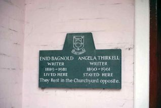 Enid Bagnold and Angela Thirkell commemorative plaque | Photo by Tony Mould