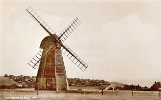 Rottingdean Windmill in 1936.   From the private collection of Tony Drury