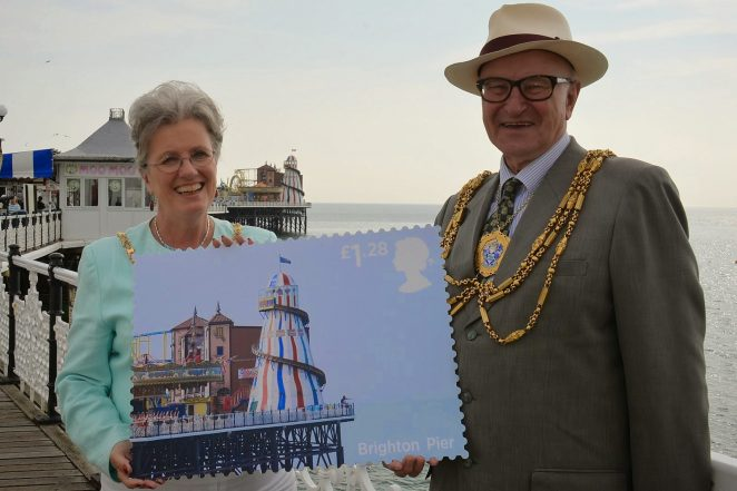 Mayor of Brighton and Hove, Councillor Brian Fitch and the Mayoress Mrs Nora Fitch | ©Tony Mould: all images copyright protected