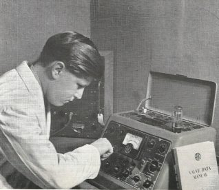 Television and radio repair department : click on image to open a large version in a new page   From the private collection of Josephine Braines