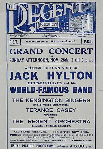 Handbill advertising a Sunday afternoon concert | Image reproduced with kind permission of The Royal Pavilion and Museums Brighton and Hove