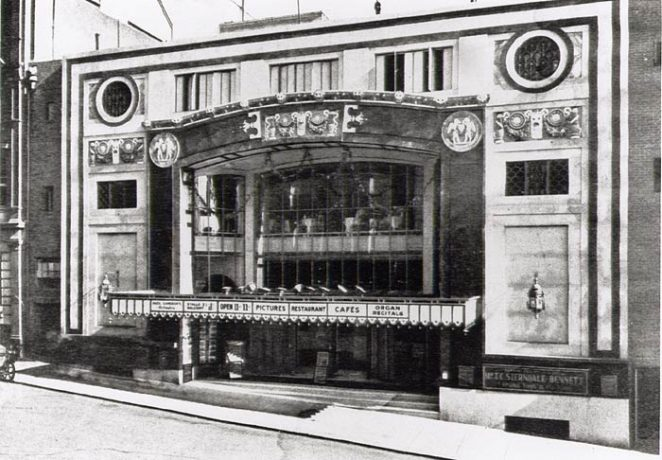 Facade of the Regent Cinema in Queens Road, Brighton | Image produced with permission from Brighton History Centre[/mybhlink
