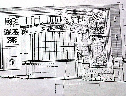 Architectural designs by Robert Atkinson F.R.I.B.A. for the main entrance to the cinema