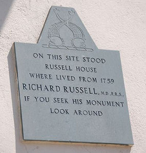 Dr Richard Russell's plaque   Photo by Tony Mould