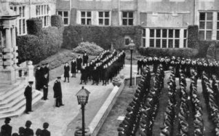 Photo of Sunday Divisions on the Quadrangle at Roedean | Donated by: Lt Cdr R J. Hoole RN