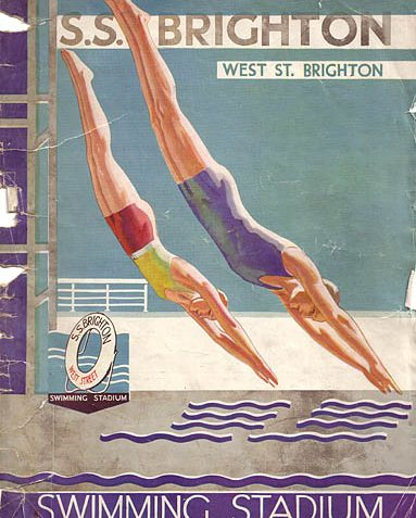 Souvenir Brochure, opening of the Swimming Stadium, Brighton. 1934 | Image scanned from the collection of Trevor Chepstow, Sports Stadium Brighton Archive
