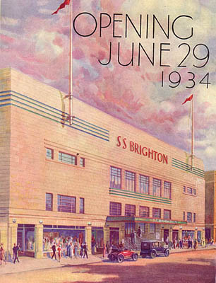 Souvenir Brochure, opening of the Swimming Stadium, Brighton, 1934 | Image scanned from the collection of Trevor Chepstow, Sports Stadium Brighton Archive