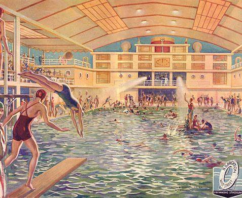 Souvenir Brochure, opening of the Swimming Stadium, Brighton. 1934