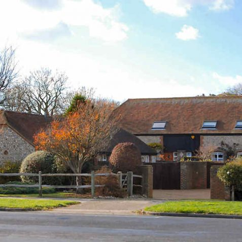 Restored farm buildings