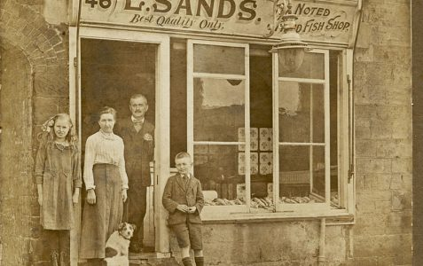 E Sands fish shop c1920