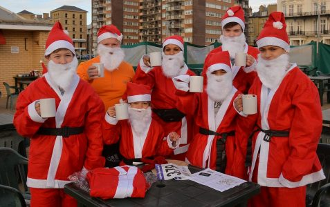 Brighton and Hove Santa Dash 2014
