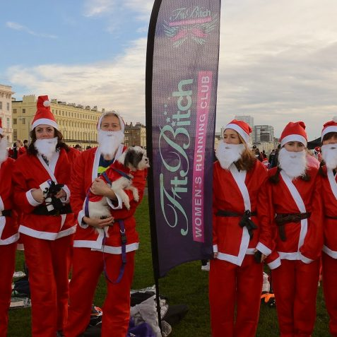 Brighton and Hove Santa Dash 2014 | ©Tony Mould: images copyright protected