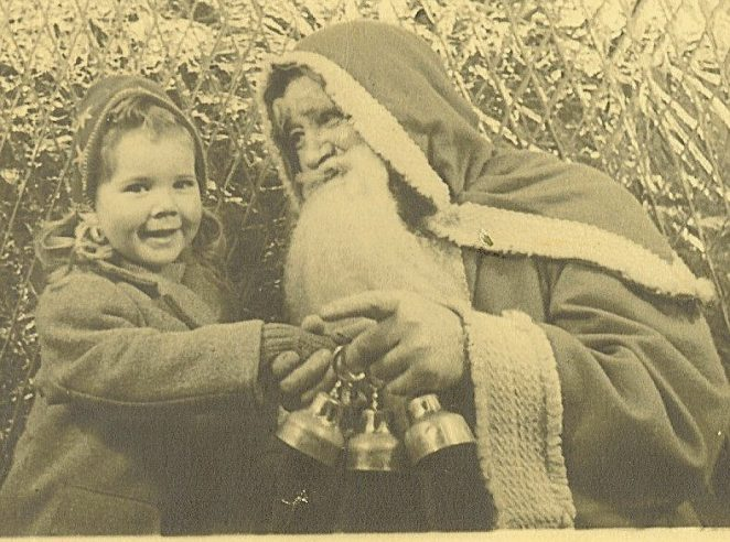 Father Christmas and Bonny in Wades Brighton | From the private collection of Bonny Cother