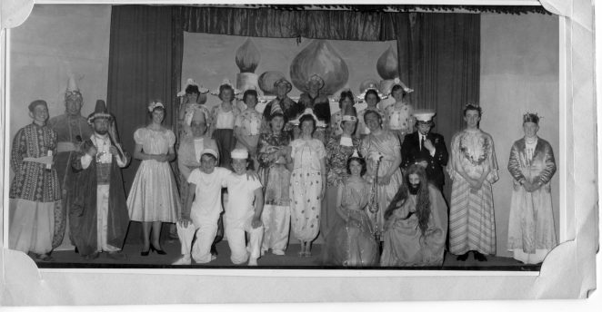 Sinbad the Sailor - 1961  This is the whole cast for the show from which the other photo on Sandra's page is taken. | From the private collection of Geoff Robbins