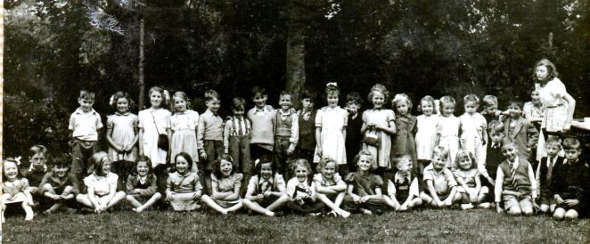 Class c1940s Finsbury Road School | From the private collection of Marion Goodwin