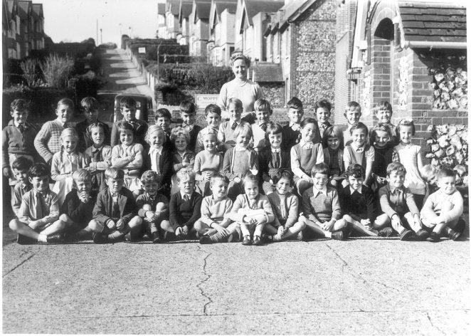Rottingdean Infants School 1955 | From the private collection of Andy Sloggett