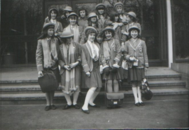 In this group are schoolpals, Carole Bowley; Anne Reeve; Josephine Denny; Anne Richards; Jill Attwater; Valerie Wilkins; Pauline Jennings; Christine Smart; Lynda Dunster; Ann Saunders; Janette Seaton; Sheila Mepham; Jane Hickman; Janet Wyles, some of whom I kept in touch with over the years | From the private collection of Sheila Tobin